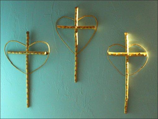 3 lit crosses