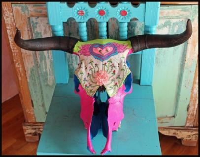 amazing cow skull