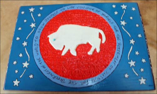 buffalo carving