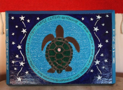 turtle carved