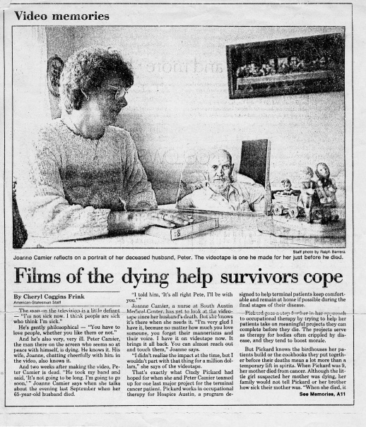 films of the dying:peter
