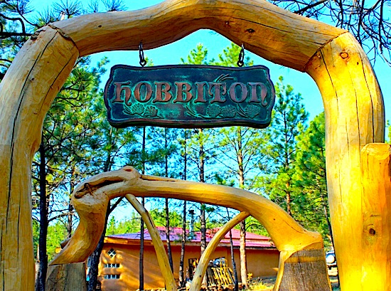 hobbiton sign front close