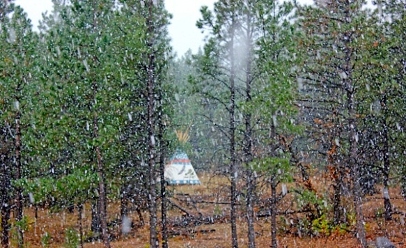 tipi snow oct 11