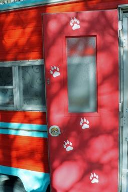 WOLF PRINT DOOR