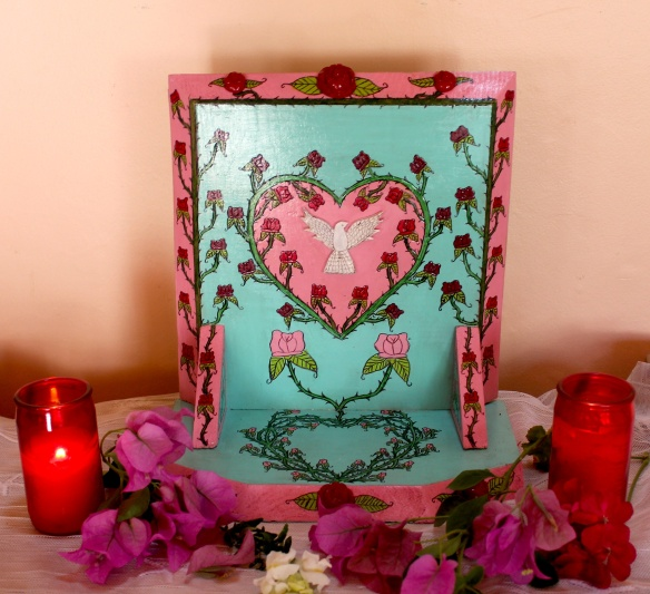 valentine altar-candles