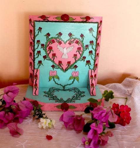 valentine altar flowers