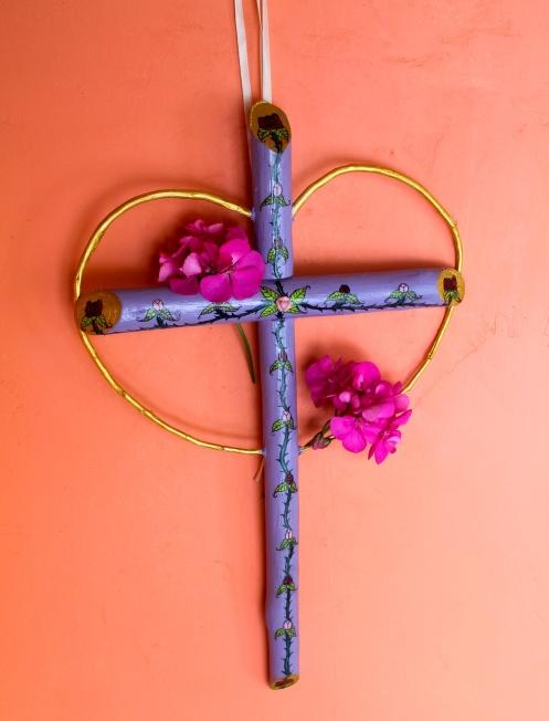 purple cross hang