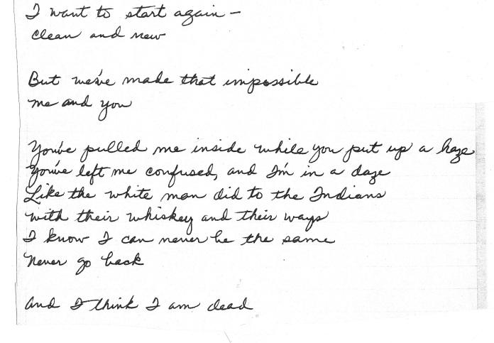 suicide note chris
